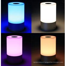 Gradient colorido dimmable lâmpada de mesa LED com sensor de toque