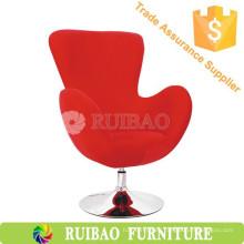 Diseño moderno Silla de cisne rojo con tela Barra de taburete Silla de bar Silla de sala de buceo