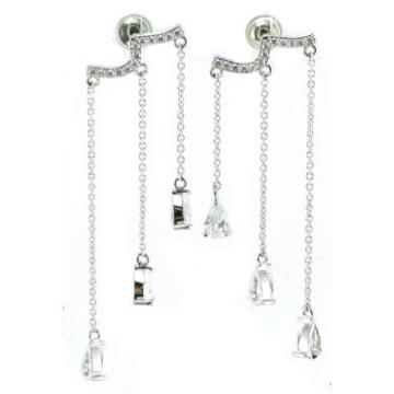 Jóias da forma e da boa qualidade Pedra para a mulher 925 brinco de prata (E6483)