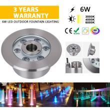 Luz de fonte externa LED 6W de aço inoxidável