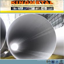 Tubulação de aço inoxidável dobro da costura 304 316 ERW