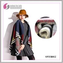 2015 haute qualité coloré géométrique dames élégant imiter écharpe en cachemire