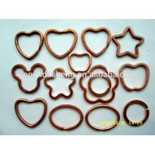 Llaveros redondos del metal redondo del diseño personalizados con su logotipo
