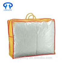 Factory low price high quality custom bedding foldable aesthetic pvc blanket zipper bag pillow carry bag