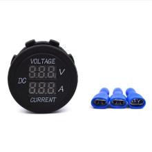 Automobile Motorcycle DC 1-10A LED Digital Ampere Current Meter and DC Voltmeter for 12-24V