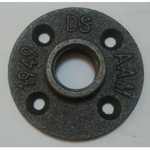 "1/2"" BS threaded handrail floor flange"