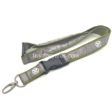 Porte-badge Tissé Double Polyester Lanyard