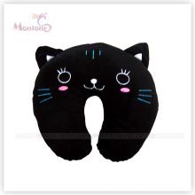 Schwarze Katze Form Nackenkissen