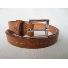 Коричневый дешевый кожаный ремень pu с верхней строчкой