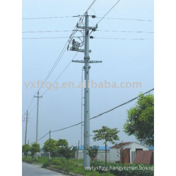 25-80ft galvanized polygon steel electric pole