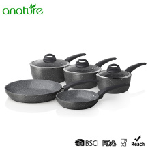 Customized for Forged Aluminum Frying Pan Marble Stone Nonstick Aluminum Cookware Set export to Malta Exporter