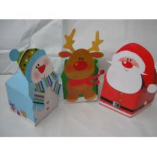 Conjunto de pequena caixa de papelão de presente de Natal