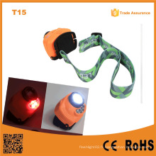 T15 Handsfree Switch Outdoor 3PC AAA Battery Head Lamp Capteur multi-fonctions LED Capteur LED Light $