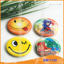 Tin Button Badge Pack , Round Tinplate Metal Badge BM1116