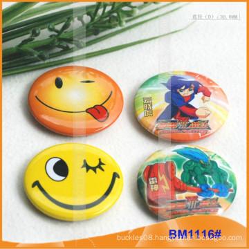 Tin Button Badge Pack , Round Tinplate Metal Badge BM1116