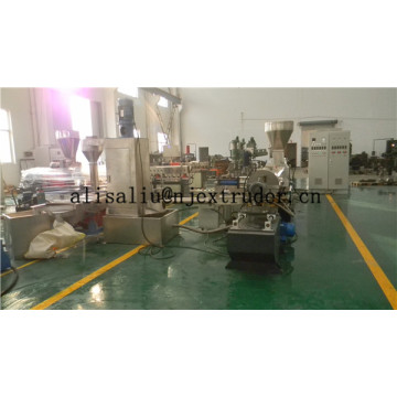 water-ring pelletizing extruder for elastomer granulator
