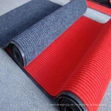 Doppelte Streifen-Teppichmatte mit PVC-Unterlage
