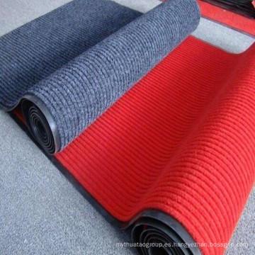 Estera de la alfombra de la raya doble con el backing del PVC
