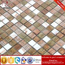 barato telha de mosaico misturado quente - mosaico de vidro do derretimento para a telha da piscina