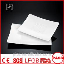 P & T фарфоровые фабричные белые пластины, фарфоровые прямоугольные пластины, обеденные тарелки