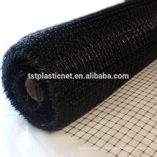 10x10mm Mesh extrudierte Quadrat Mesh PP Vogelnetz schwarze Farbe