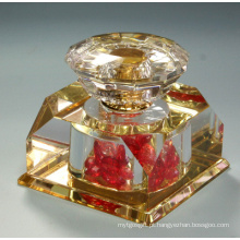 Frasco de perfume de cristal da sala da pintura do ouro 20ml (JD-QSP-323)