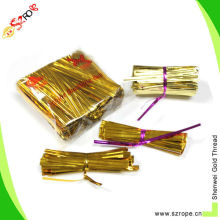 """3"""" metallic twist ties for candy cello bags"""