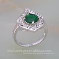 bijoux en argent prix de 1 carat diamant prong anneau de réglage pour les femmes