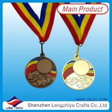 Rotierbare Gold Silber Bronze Schwimmen Sport Medaille für Verkauf