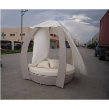 Jardin Pe rotin lit rotin extérieur métal chaise longue