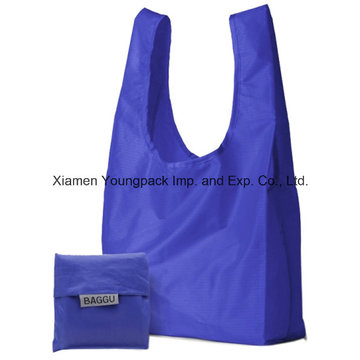Baggu Cheap Promotionnel Sac à provisions réutilisable réutilisable 190t Nylon Foldable Shopper
