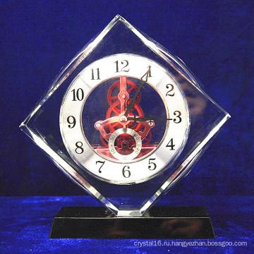 Высокий Класс Кристалл Стеклянный Квадратный Часы Украшения Офиса