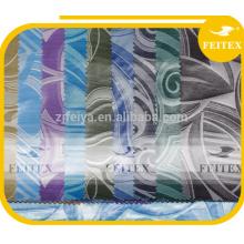 Tissu bazin teinté jacquard shadda en polyester et polyester, brocart africain