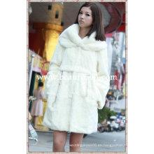 Fah00336 OEM venta al por mayor de piel de prendas de vestir de piel de ropa de conejo de piel de visón abrigo de pieles chaqueta de piel