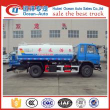 2015 dongfeng 4 * 2 camión de tanque de agua con camión de agua por menor precio