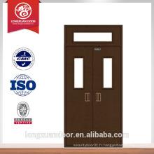 Porte coupe-feu à porte en acier Porte d'entrée principale Porte simple en acier
