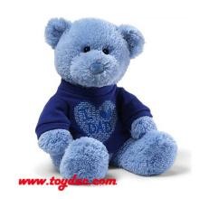 Плюшевая футболка Синий медведь