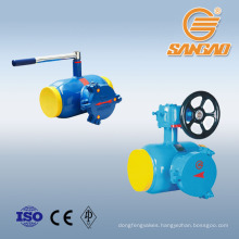 worm gear fully welded ball valve with filter strainer valve
