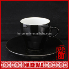 Latest design in phoneix serie porcelain coffee cup and saucer set for cafe,wholesale ceramic tea cup set
