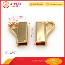 Decoração de saco de ouro brilhante, montagem de saco de metal