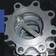 Válvula de retención oscilante de acero inoxidable con doble disco y placa doble