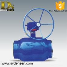 Densen proposait une vanne à bille de contrôle de débit de grande taille