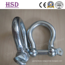E. Galvanized European Bow Type Shackle, D Shackle, Ji Type, Professional Manufacturer
