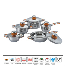 Stainless Steel Cookware Set 7 Step Bottom