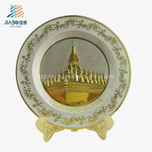 Top Sell Zinc Alloy Casting Wholesale 3D Logo Antique Silver Plate