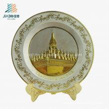 Лучшие продажи цинковый сплав литья оптом 3D логотип старинное серебро пластины