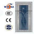 Mit Glas 304 Silber Edelstahl Außen-Sicherheitstür (W-GH-18)