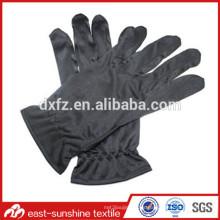 Logotipo impreso microfibra joyería limpieza guantes, microfibra dedos joyas guantes