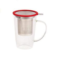 Nuevos productos calientes del té del vidrio de borosilicate accesorios al por mayor