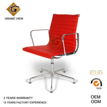 \Red Leather Eames Aluminium Chair (GV-EA108)